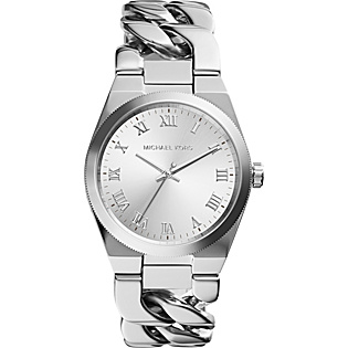 Channing Three Hand Stainless Steel Watch - Sliver